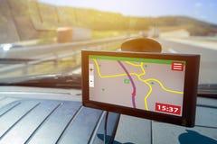 Навигация автомобиля Gps Стоковые Изображения RF