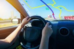 Навигация автомобиля Gps Стоковые Изображения