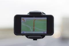 Навигация автомобиля Стоковая Фотография