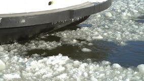Навигация зимы в Финляндии сток-видео