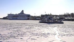 Навигация зимы в Финляндии видеоматериал