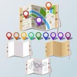 Навигация и комплект бумаги Бесплатная Иллюстрация
