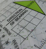 навигация курса Стоковое Фото