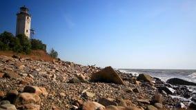 Навигация маяка морская в сценарном видеоматериал
