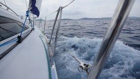 Навигация на предпосылке моря в Греции видеоматериал