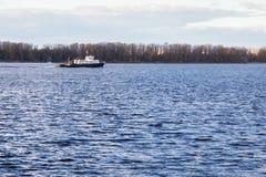 Навигация на Реке Волга в самаре Стоковые Фото