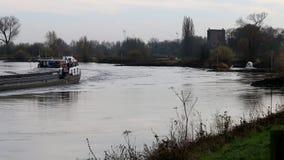 Навигация на реке IJssel, Голландии видеоматериал
