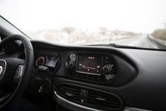 навигация приборной панели пульта автомобиля электронная Стоковые Фото