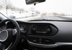 навигация приборной панели пульта автомобиля электронная Стоковое Фото