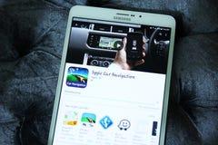 Навигация app автомобиля Sygic Стоковое Изображение RF