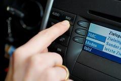 навигация gps автомобиля Стоковое фото RF