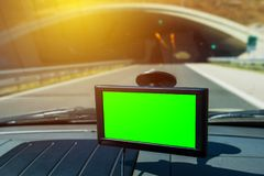 Навигация GPS в автомобиле Стоковое Фото