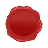 Навощите вектор уплотнения красный изолированный на белой предпосылке Стоковое Изображение