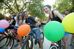 Нагая гонка велосипеда в Thessaloniki - Греции стоковое изображение rf