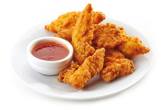 Наггеты жареной курицы Стоковая Фотография