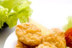 наггеты цыпленка близкие вверх стоковая фотография rf