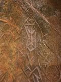 Наглядные сочинительства человека каменного века, Edakkal выдалбливают стоковые изображения