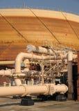 нагнетать промышленного завода газа детали Стоковые Фото