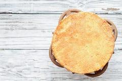 Нагой торт губки Виктория снял сверху стоковое фото rf