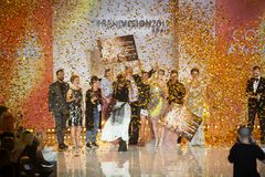 Награда 2017 зрения тенденции Wella Стоковые Изображения RF