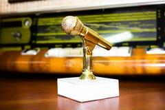 Награда микрофона для достижений в музыке стоковая фотография rf