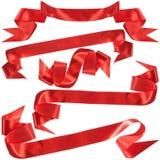 наградите красный цвет подарка смычка стоковые изображения rf