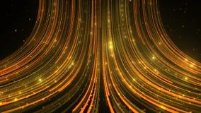 Наградите светлую предпосылку с золотым потоком, звездами абстрактная предпосылка сток-видео