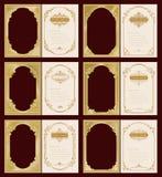Наградная карточка приглашения или свадьбы Стоковые Изображения