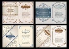 Наградная карточка приглашения или свадьбы Стоковое фото RF
