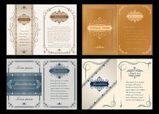 Наградная карточка приглашения или свадьбы Стоковое Изображение