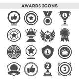 Награды чемпиона различных установленных значков формы иллюстрация вектора