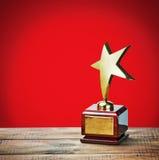 Награда звезды с космосом для текста Стоковая Фотография