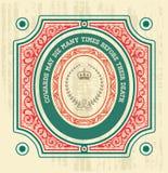 Наградная качественная карточка. Барочные орнаменты и флористический Стоковая Фотография RF