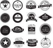 Наградной комплект логотипа в ретро винтажном стиле иллюстрация штока