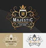 Наградной королевский дизайн логотипа гребня стоковое изображение