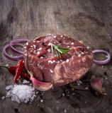 Наградной сырцовый филей говядины Стоковое Изображение RF