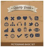 Наградные и простые установленные пиктограммы Стоковые Фото