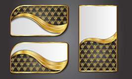 Наградные роскошные карточки, ретро предпосылка Стоковые Изображения RF