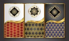 Наградные роскошные карточки, ретро предпосылка Стоковая Фотография