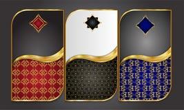 Наградные роскошные карточки, ретро предпосылка Стоковые Фото