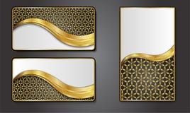 Наградные роскошные карточки, ретро предпосылки Стоковое Фото