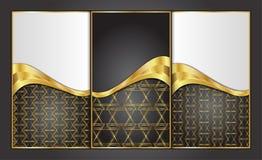 Наградные роскошные карточки, ретро предпосылки Стоковые Изображения