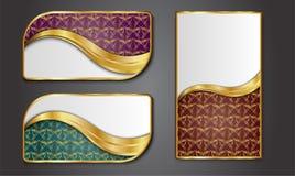 Наградные роскошные карточки, ретро предпосылки Стоковое Изображение RF