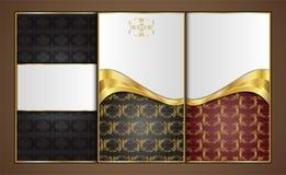 Наградные роскошные карточки, ретро предпосылки Стоковые Фотографии RF