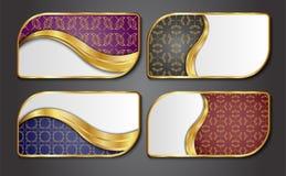 Наградные роскошные карточки, ретро предпосылки Стоковая Фотография RF