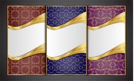 Наградные роскошные карточки, ретро предпосылки Стоковые Фото