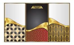 Наградные роскошные карточки, рогульки, ретро предпосылки Стоковая Фотография