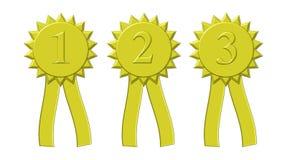Награды ленты золота Стоковое Фото