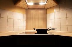 Нагревательная плита в кухне Стоковая Фотография RF