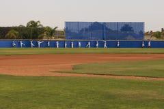 Нагревать команды изображения действия бейсбола Стоковые Изображения